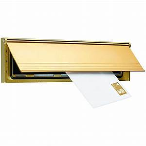 Wickes internal letter box draught excluder with flap gold for Interior letter box cover