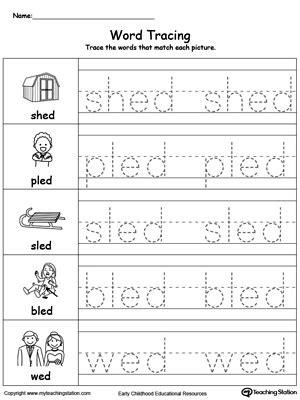 ed word family workbook  preschool myteachingstationcom