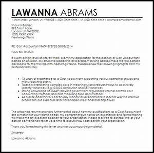 cover letter for assistant accountant position - cost accountant cover letter sample cover letter