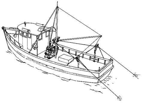 Coloring Pages Of A Fishing Boat by Fishing Boat Coloring Pages