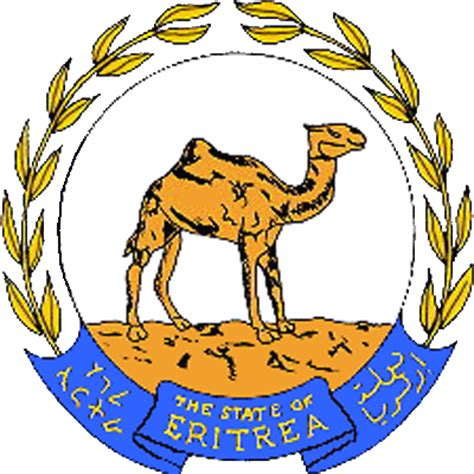 The state symbolics of the State of Eritrea. Flags. Emblems