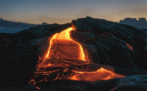 Download Wallpaper 3840x2400 Volcano Lava Fiery Melting