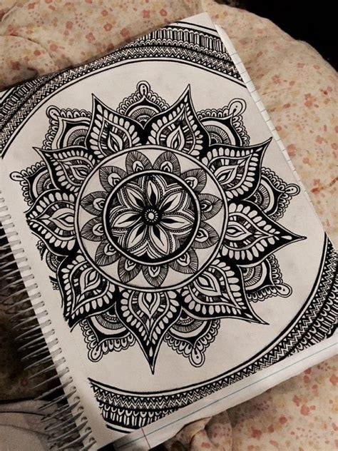 mandala ink drawing  artbyalyssia  etsy wow