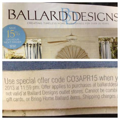 Ballard Design Coupon  What Inspires My Home Pinterest