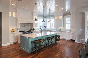 teal kitchen island contemporary kitchen benjamin With kitchen cabinets lowes with grey and teal wall art
