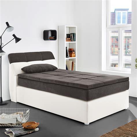 Boxspringbett Odessa Schlafzimmerbett Bett In Weiß Grau