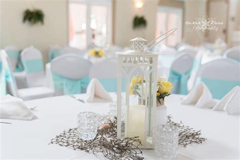Nautical Themed Wedding Lantern Centerpiece Blue And