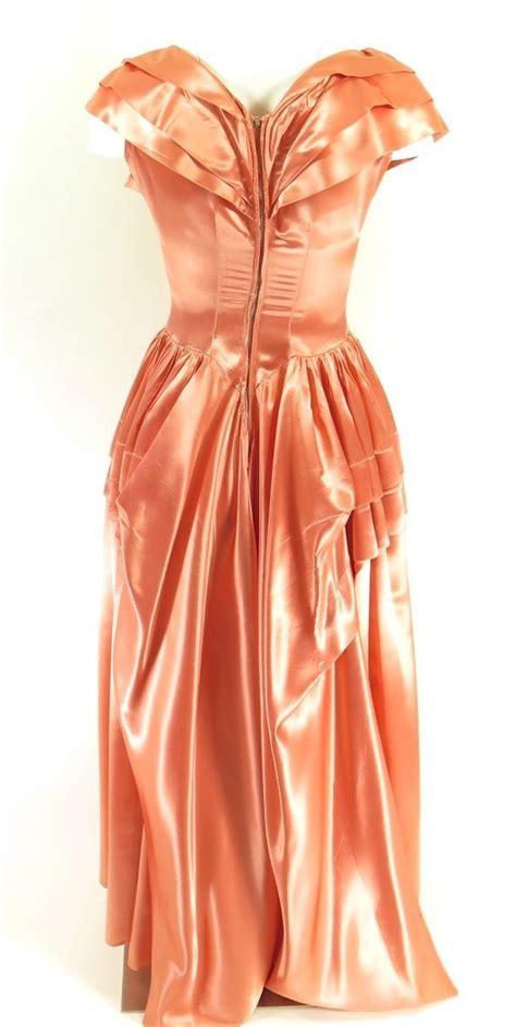 modern fan company ball vintage 50s evening long dress womens s alfred angelo pink