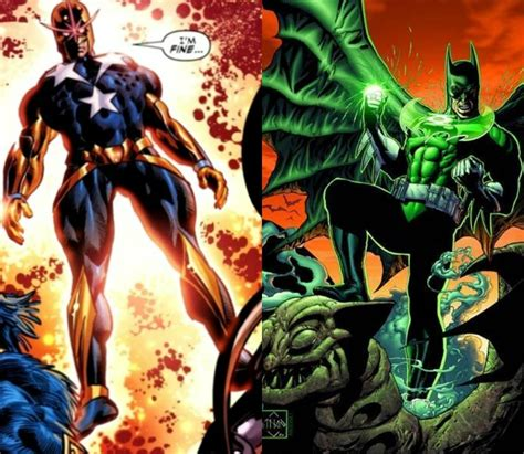 captain nova steve rogers vs green lantern batman