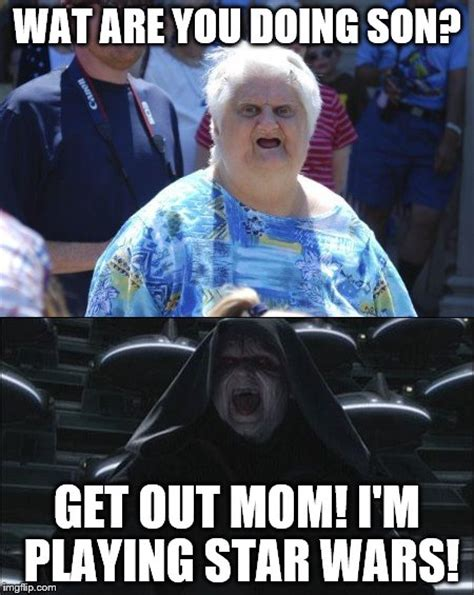 Star Wars Emperor Meme - mother and son imgflip