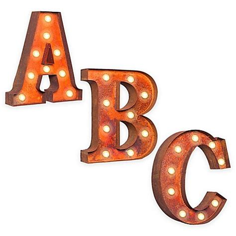 wall mounted vintage light up metal letter a illumination vintage retro lights signs metal letter light up wall 44480