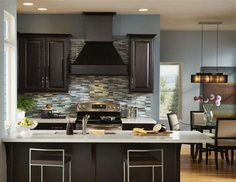 kitchen wall colors with dark cabinets home furniture design
