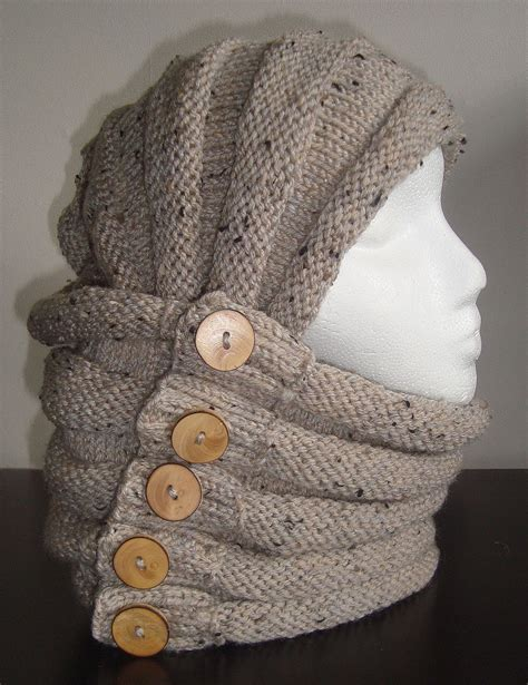 Cable Knit Cowl Hood Patterns