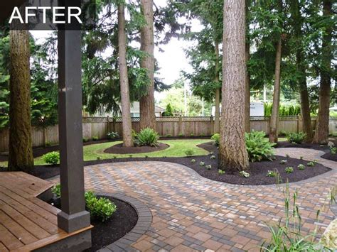 back yard makeover backyard makeover with irrigation system for home in langley bc