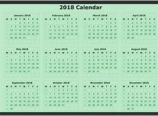 Annual calendar 2018 2018 Calendar printable for Free