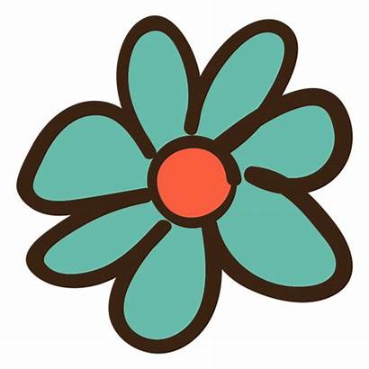 Flower Doodle Simple Flor Transparent Colored Svg