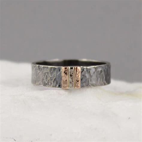 s wedding band 14k white gold on black