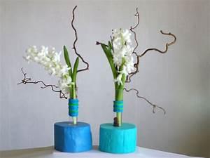 Reagenzgläser Für Blumen : vasen blaue blumenvasen aus holz mit reagenzglas vasen ein designerst ck von restyled be ~ A.2002-acura-tl-radio.info Haus und Dekorationen