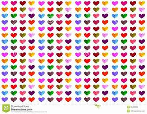 Colorful Heart Pattern Stock Illustration - Image: 49499995