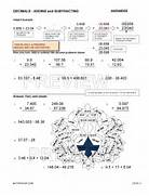 Subtraction Worksheets By Math Crush Subtracting Decimals To Thousandths Horizontally A Subtracting Money Worksheets UK Money Subtracting Decimals Worksheet Horizontal Format