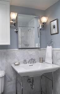 grey bathroom tile Bathroom Contemporary with bathroom