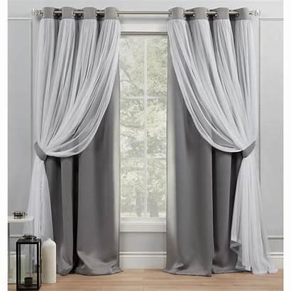 Grommet Curtain Grey Panel Soft Catarina Curtains