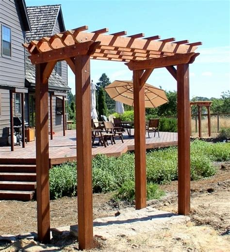 Einfache Pergola Bauen by How To Build A Small Pergola Pergola Gazebo Ideas