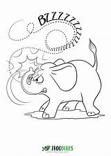 Coloring Elephant Overreacts sketch template
