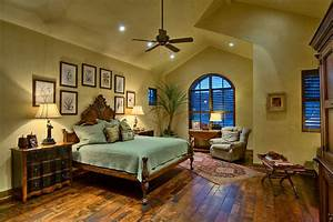 Hill country ranch master bedroom traditional bedroom for Country master bedroom