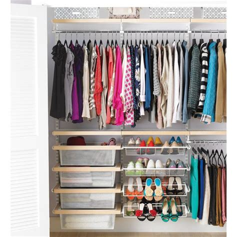 birch white elfa d 233 cor reach in clothes closet closet