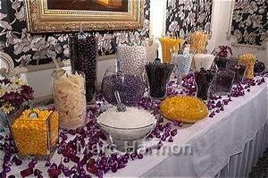 Themed Candy Buffet Purple Amp Goldvendors Custom Candy