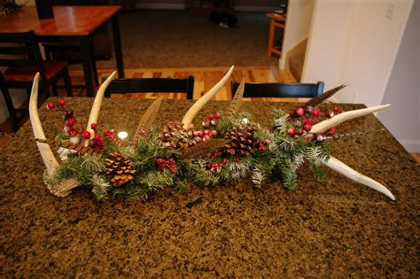 Elk Antler Christmas Holiday Centerpiece by DeCaroDecor on