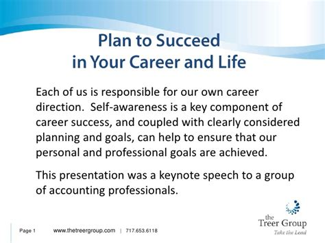 Plan To Succeed In Your Career And Life