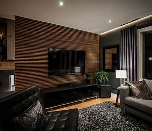 Wohnzimmer Wand Holz : wohnzimmer wandgestaltung wandverkleidung wandgestaltung ~ Lizthompson.info Haus und Dekorationen