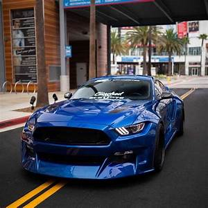 6th gen blue 2017 Ford Mustang GT widebody SEMA car For Sale - MustangCarPlace