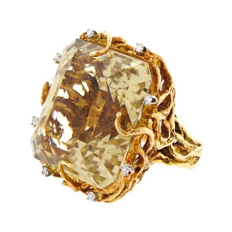 diamond cocktail rings citrine diamond cocktail ring