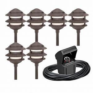Portfolio light bronze low voltage path lights