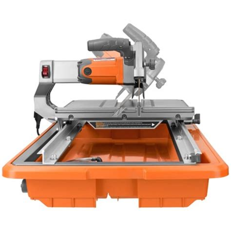 7 quot job site tile saw with laser ridgid professional tools