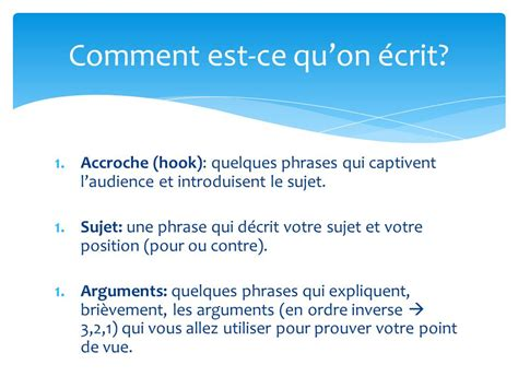 l introduction d un texte argumentatif ppt t 233 l 233 charger