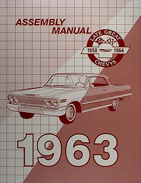 1963 chevy wiring diagram manual reprint impala ss bel air biscayne