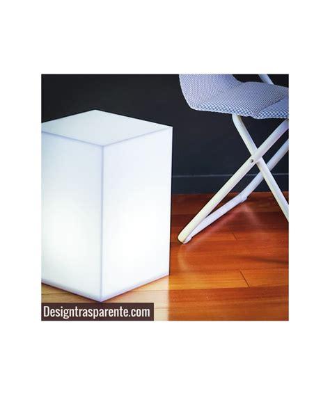 Comodino Cubo by Comodino Cubo Luminoso Cm 30x30h45 In Plexiglass Bianco