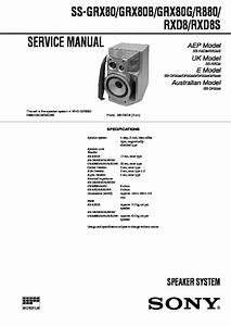 Sony Mhc-rxd8  Mhc-rxd8s Service Manual