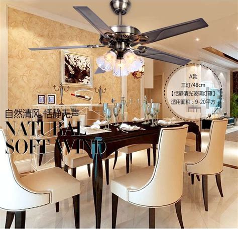 fan for room 48 inch iron leaf lights fan living room dining room