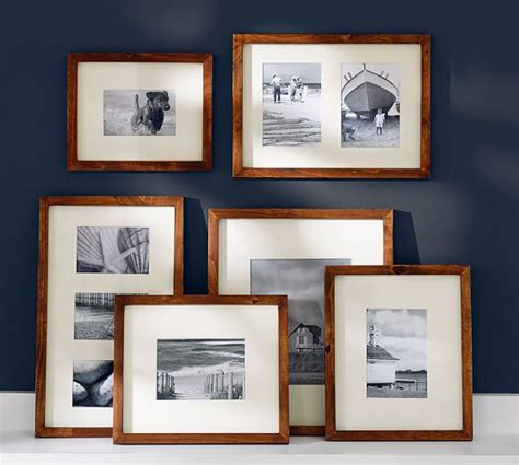 pottery barn gallery in a box wood gallery frames in a box rustic wood pottery barn