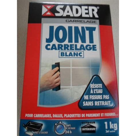 joint carrelage blanc 1kg sader mondecor