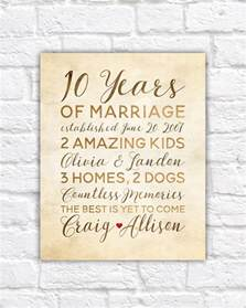 10 year wedding anniversary gift ideas for 10 year anniversary gift wedding anniversary decor rustic 10th anniversary gifts for