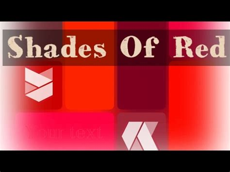 shades  red color youtube