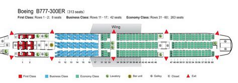 plan siege boeing 777 300er air china airlines aircraft seatmaps airline seating