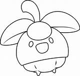Bounsweet Coloring Pokemon Sun Moon Greninja Printable Coloringpages101 Pokémon Ash sketch template