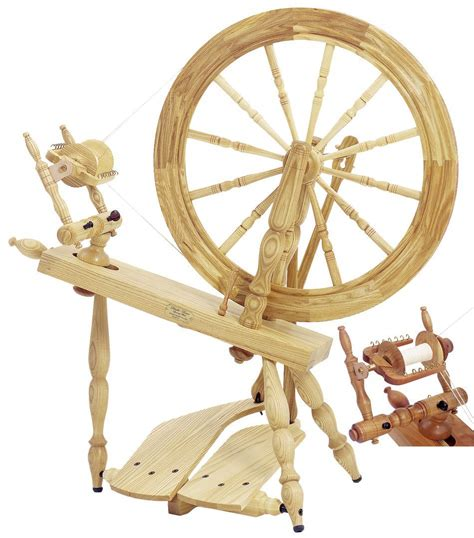 Schacht Reeves Spinning Wheel Double Treadle Cherry